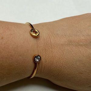 Kate Spade Gold Spade Crystal Cuff Bracelet Bangle